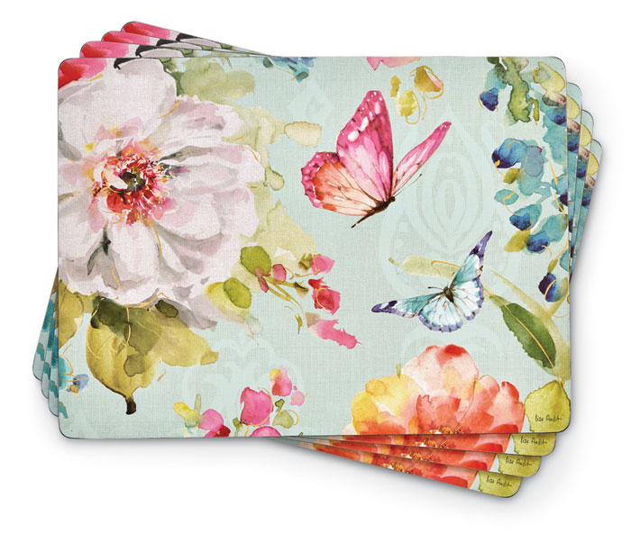 8744: Butterfly Garden Placemats (Set of Four) (Product Detail)