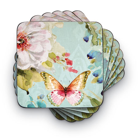 8745: Butterfly Garden Coasters (Set of Six) (Product Detail)