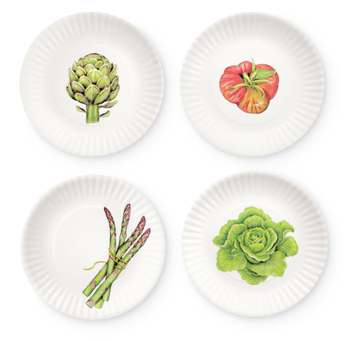 8782: Veggie Salad Plates (Set of Four) (Product Detail)