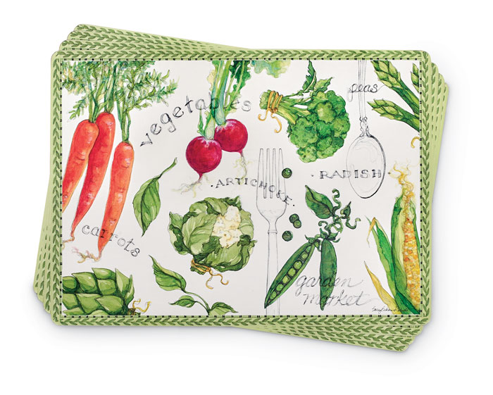8795: Vegetable Garden Placemats (Set of Four) (Product Detail)