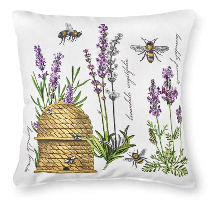 8536: Lavender and Beehive Pillow (Product Detail)