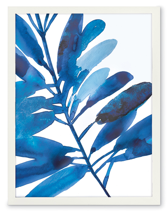 846999: Indigo Tropical Leaves III Wall Art - Sample (Product Detail)
