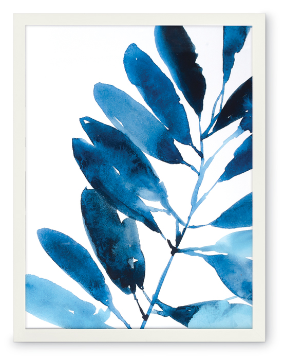 847099: Indigo Tropical Leaves IV Wall Art - Sample (Product Detail)