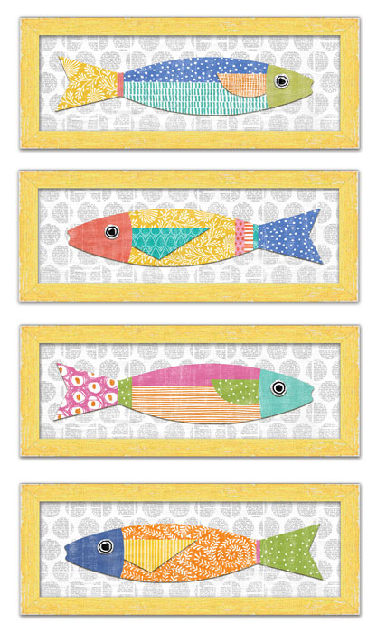 9996: Colorful Fish Wall Art (Set of Four) (Product Detail)