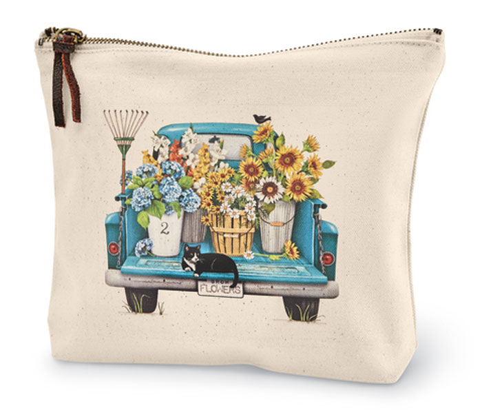 9970: Summer Flowers Truck Canvas Pouch (Product Detail)
